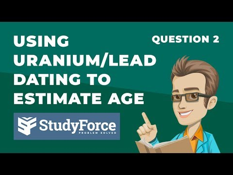 Using Uranium/Lead Dating To Estimate The Age Of A Rock (Question 2)