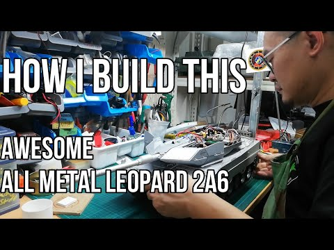 How I built this Fully Metal Leopard RC Tank - Build Log