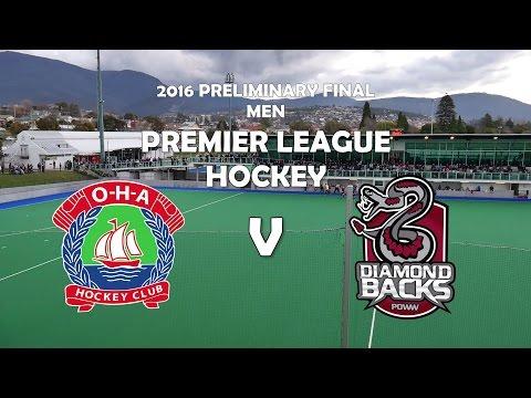 Full Match - OHA v Diamondbacks: Men's Premier League Preliminary Final 2016