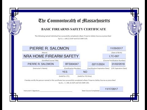 How To Apply For A LTC/FIDC (Gun Permit) In MA