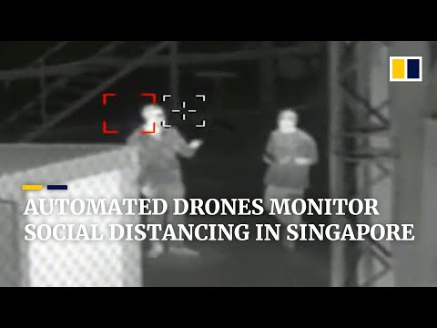 Coronavirus: Singapore uses pilotless drones to monitor social distancing