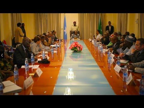 AU PEACE AND SECURITY COUNCIL VISITS SOMALIA