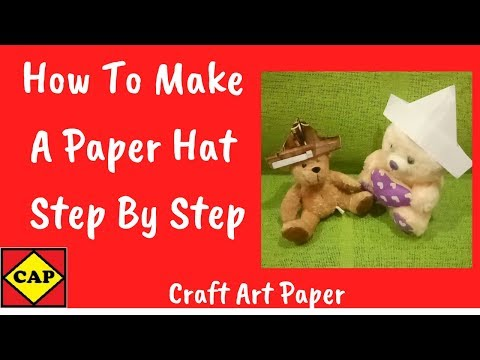 How to Make a Paper Hat Step By Step | Paper Craft Ideas