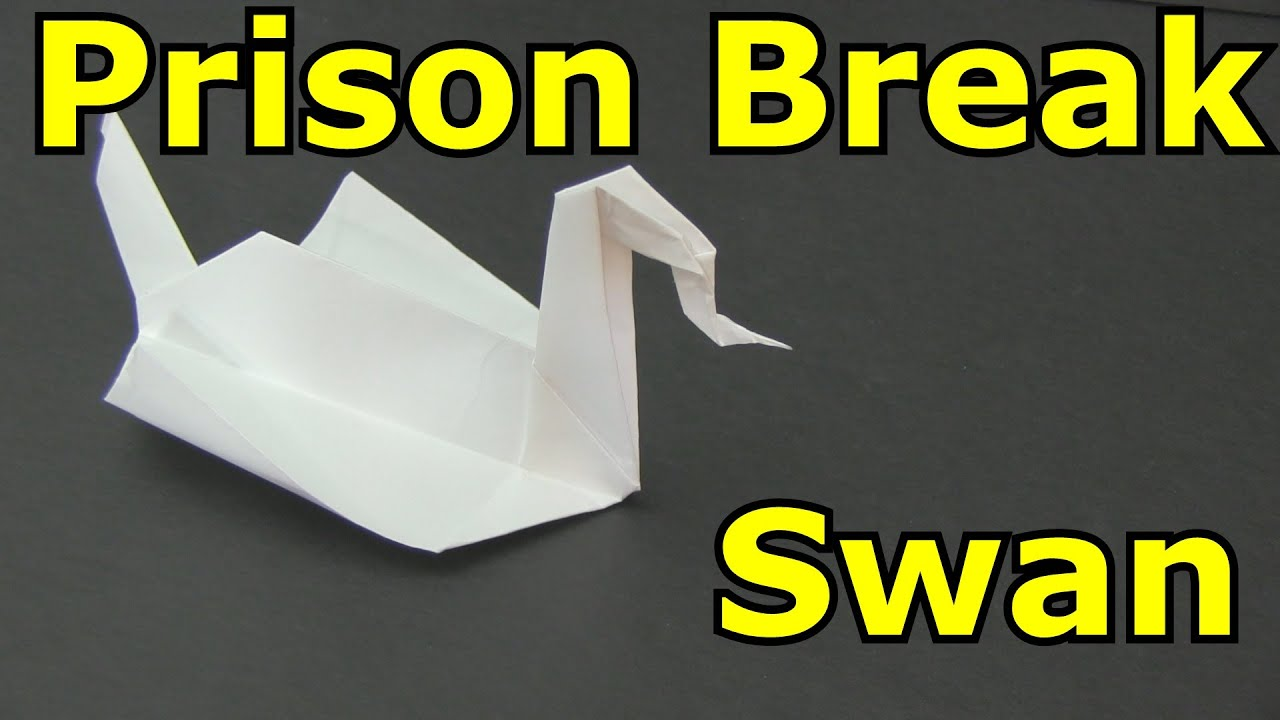 How to make the prison break swan origami youtube for Origami swan easy step by step