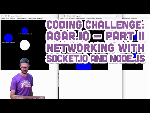 Coding Challenge #32.2: Agar.io - Part 2 (Networking With Socket.IO And Node.js)