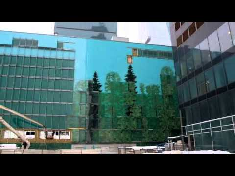 AFI Mall Moscow, Russia - Photorealistic Image of Russian Forest Printed on Glass - Dip Tech