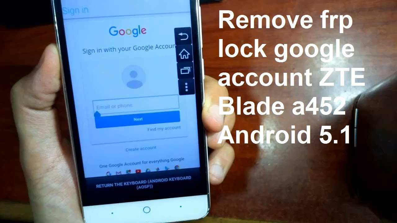 how to remove google account on zte blade a452 andoid 5 1