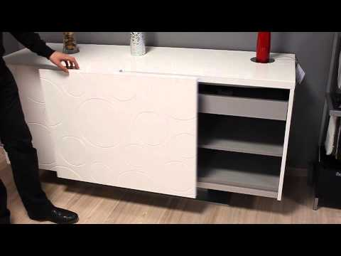 bahut blanc porte coulissante youtube. Black Bedroom Furniture Sets. Home Design Ideas