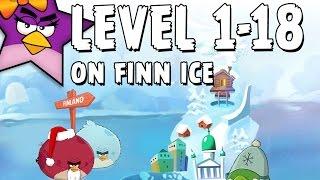 On Finn Ice 1-18 | Score 93150 | Angry Birds Seasons