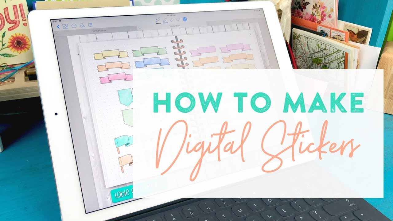 How to digital stickers on the ipad