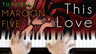 This Love (piano tutorial) Maroon 5 Video