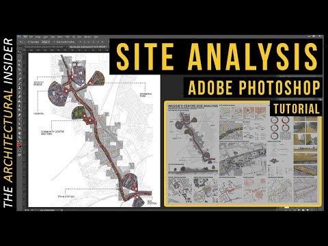 Architecture Site Analysis Presentation Guide | Photoshop Tutorial