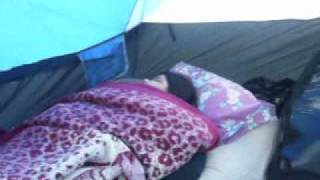Yesi Sleeping @ Camp