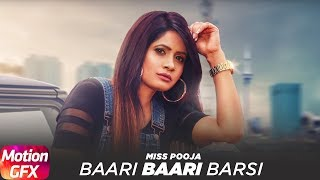 Motion Poster | Baari Baari Barsi | Miss Pooja | Releasing on 23rd Sep 2017 | Speed Records
