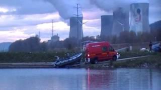 accident de bateaux à l'entrée du port de Cruas