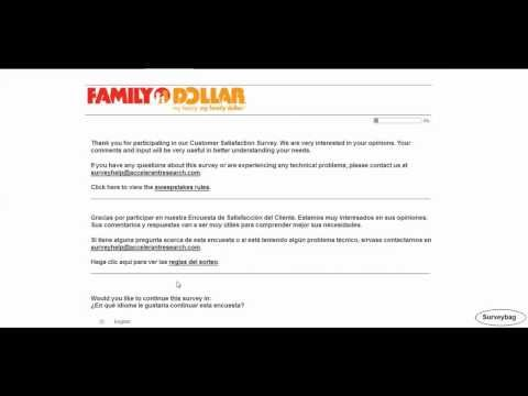 Www.tellfd.com Family Dollar Survey Video By Surveybag