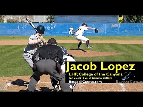 Jacob Lopez, LHP, College of the Canyons