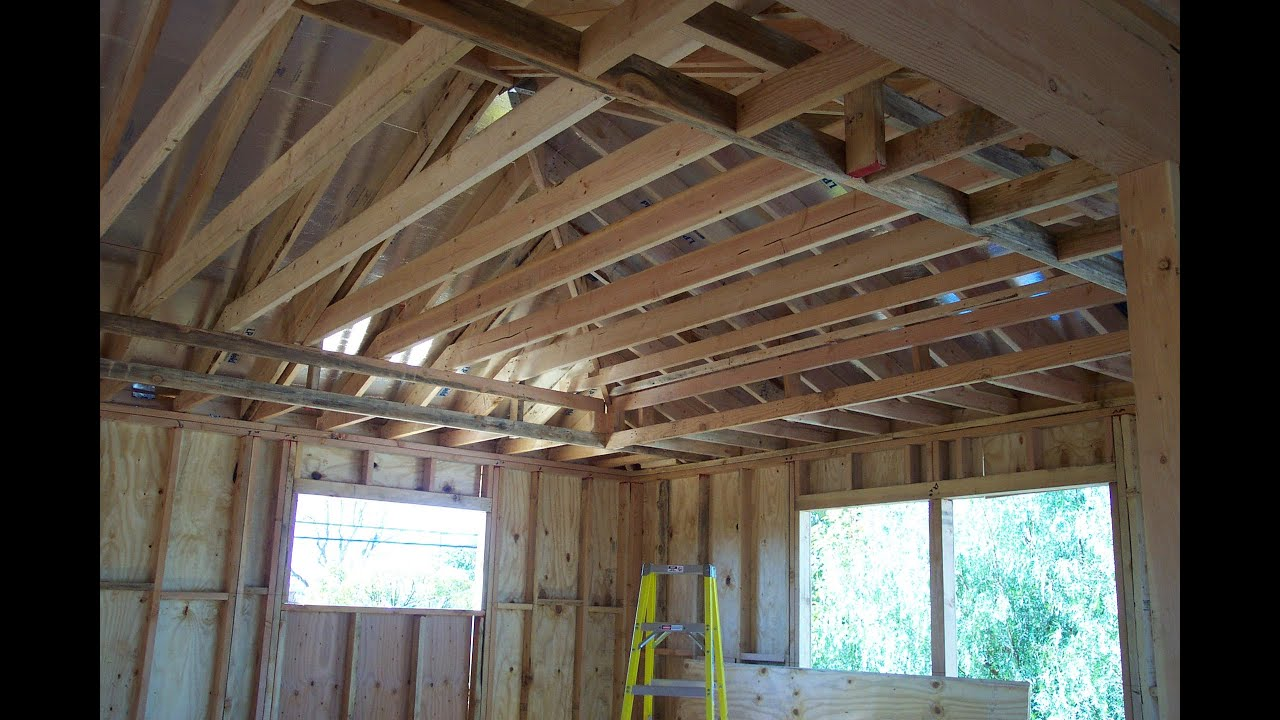 Roof Joists & Illustration Of A Prefabricated Metal-plated ...