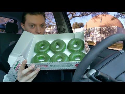 Krispy Kreme St. Patrick's Day Green Original Glazed Doughnut -  Review