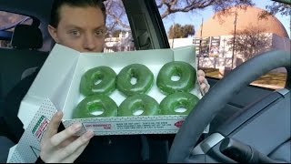Krispy Kreme St. Patrick's Day Green Original Glazed Doughnut -  Review