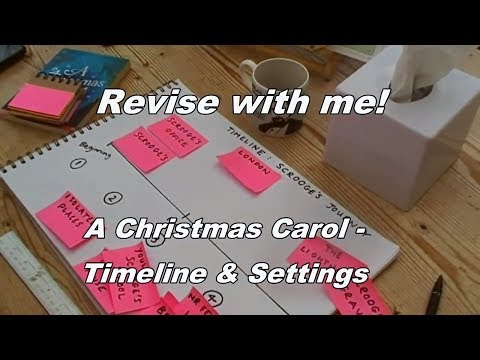 A Christmas Carol - Timeline & Settings Revision Task - Great for GCSE English Literature!