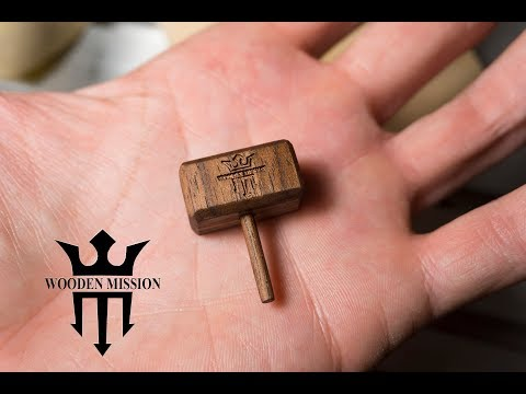 Smallest Thor Hammer in the World made of wood