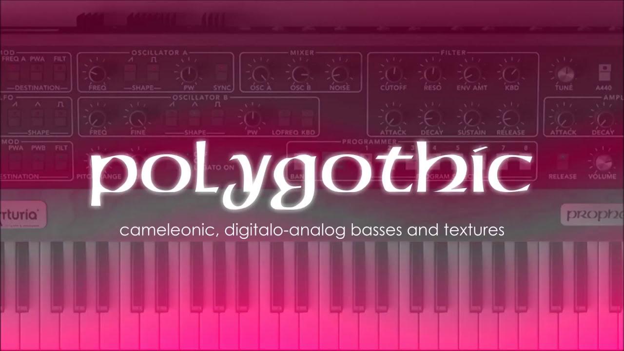 polygothic arturia prophet v sounds youtube. Black Bedroom Furniture Sets. Home Design Ideas