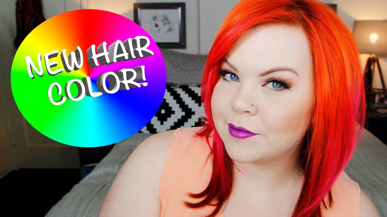 Orange Flame Ombr Redhead Hair Color New Haircut Youtube