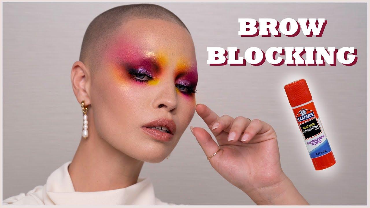 BROW BLOCKING tutorial to achieve anything creative!