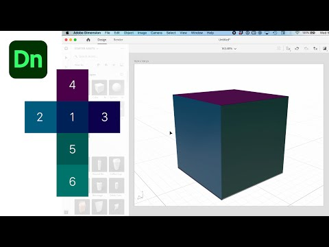 *Update* Wrap A Decal Around Multiple Sides of a Cube or Object in Adobe Dimension