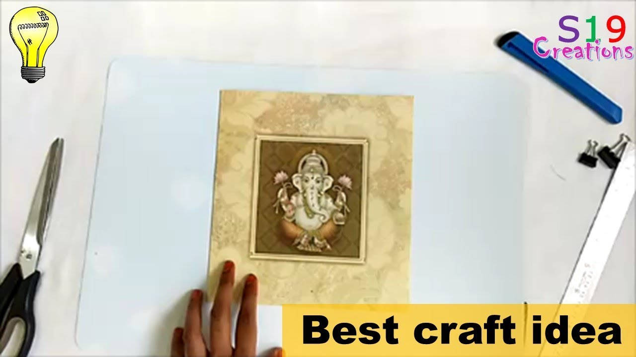Best out of waste ideas | wall decor ideas | wedding card reuse ...