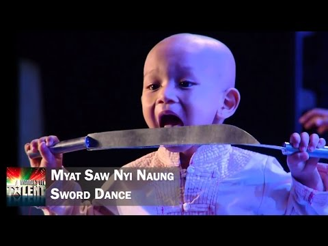 Myat Saw Nyi Naung - Traditional Sword Dance || Myanmar
