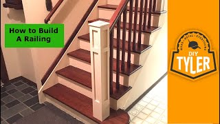 How to build a Railing for a Staircase 018