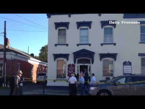 Bank robbery at Ulster Savings on Main St. In Saugerties.#saugerties
