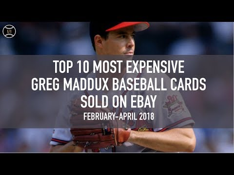 Top 10 Most Expensive Greg Maddux Baseball Cards Sold On Ebay