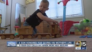 3-year-old calls 911 and saves his mom