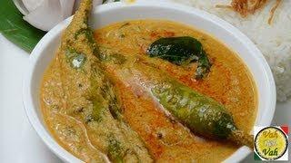 Hyderabadi Mirchi ka Salan - By VahChef @ VahRehVah.com