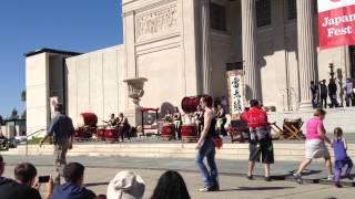 Kaminari Taiko performing at Japan Fest in New Orleans 10/20/12
