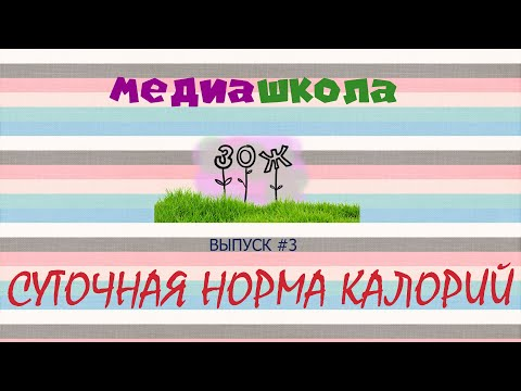 Медиашкола ЗОЖ / выпуск 3 / СУТОЧНАЯ НОРМА КАЛОРИЙ