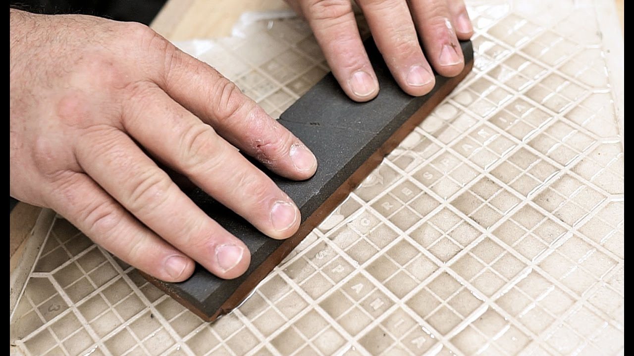 Can a ceramic tile flatten a sharpening stone youtube can a ceramic tile flatten a sharpening stone dailygadgetfo Images