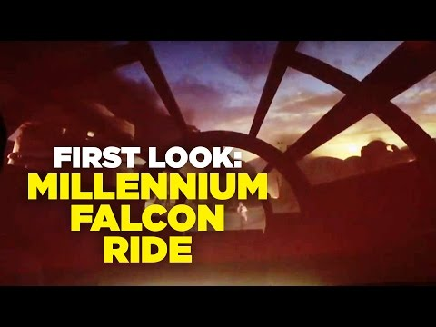 FIRST LOOK: Millennium Falcon Ride at Star Wars Land