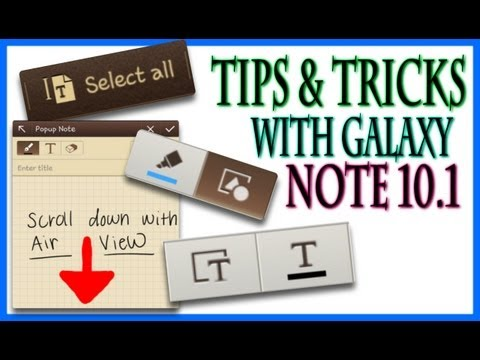 Tech-Talk: Galaxy Note 10.1 Snote Tips and Tricks