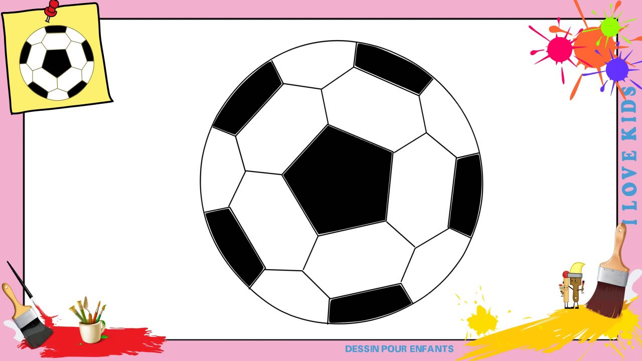 Dessin ballon de foot comment dessiner un ballon de foot facilement pour enfants youtube - Dessin de ballon de foot ...