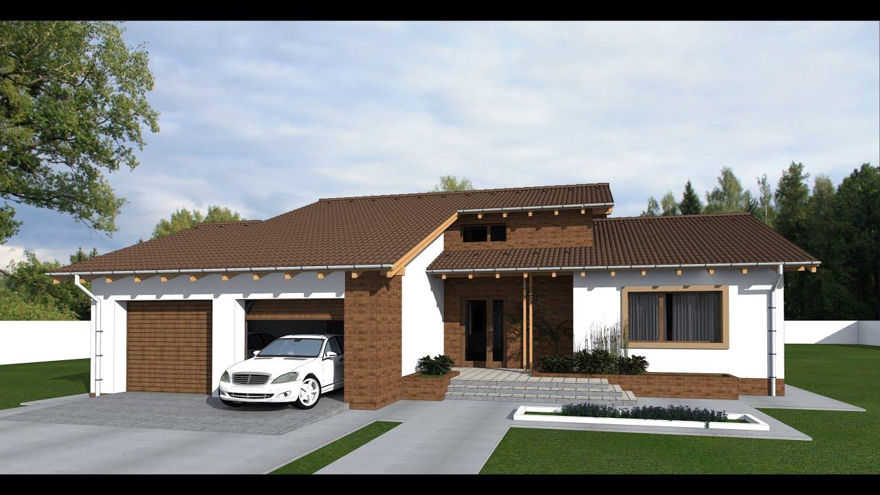 Model proiect casa cu mansarda pm04 267 mp arhitect oradea for Proiect casa 100 mp fara etaj