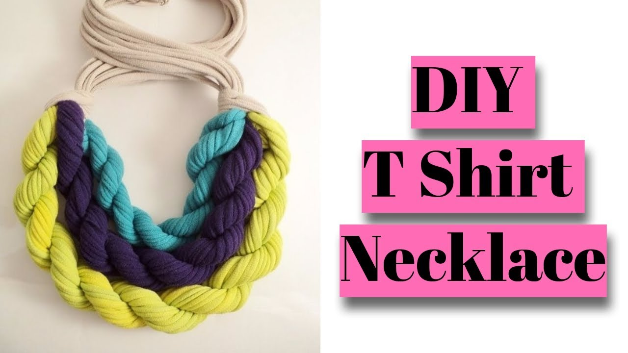 how to make t shirt necklace  turn your t shirts into