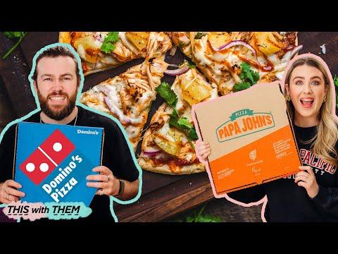 Domino's vs Papa John's: Vegan Pizza Showdown  – This With Them