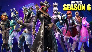 Fortnite Season 6 BattlePass Skins, Shadow Stones, Pets, Haunted Castle, & New Map!