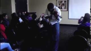 Violinist Extraordinaire Richmond Punch performs UGK I CHOOSE YOU International Players Anthem