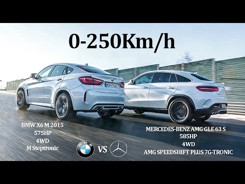 COMPARATIVE!! BMW X6 M 2015 575Hp Vs MERCEDES BENZ AMG GLE63 S 2015 585Hp - 4WD Vs 4WD