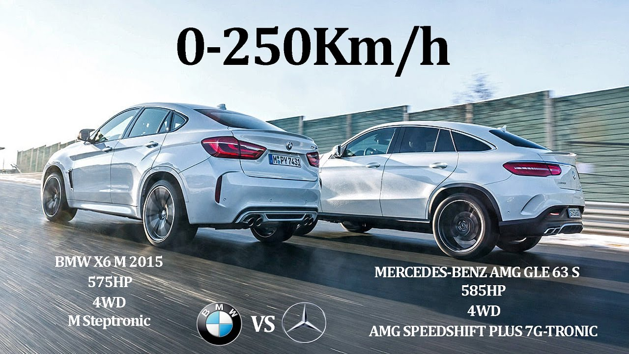 BMW X6 M 2015 575Hp Vs MERCEDES BENZ AMG GLE63 S 2015 585Hp   4WD Vs 4WD
